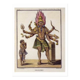 Shiva as Virapatren, Lord with the ill-formed Evil Postcard