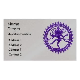 Shiva dance design business cards