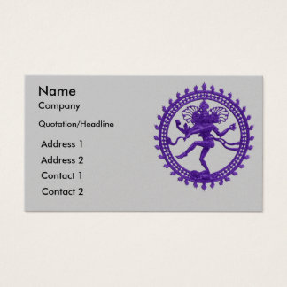 Shiva dance design business cards