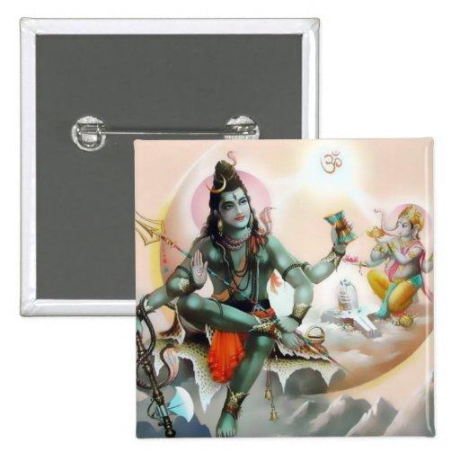 Shiva & Ganesha Button