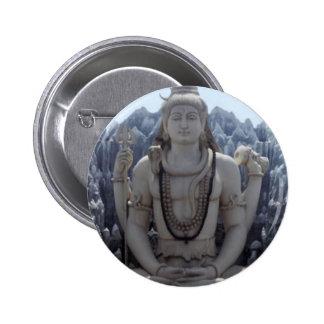 SHIVA - Himalayan Lord of PEACE 6 Cm Round Badge