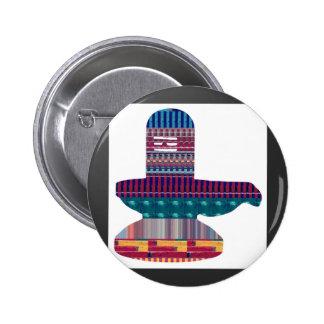 SHIVA Linga Shivlinga Hinduism Belief NVN631 FUN 6 Cm Round Badge