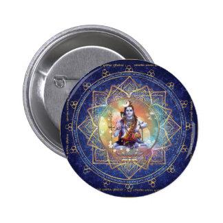 Shiva Mahamrityunjaya - Karma purifying 6 Cm Round Badge