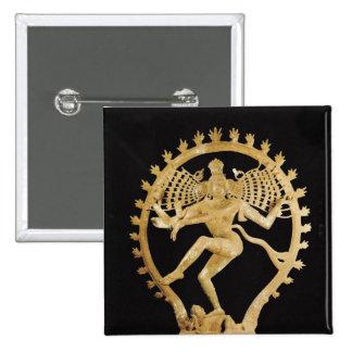 Shiva Nataraja 15 Cm Square Badge