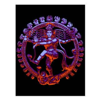 Shiva Nataraja dancing Postcard