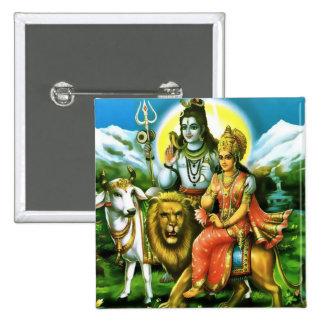 Shiva Parvati Button