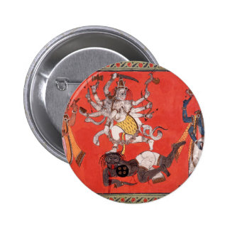 Shiva Performing The Dance Of Bliss 6 Cm Round Badge