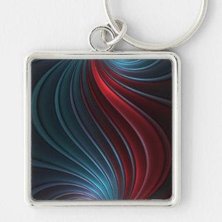 Shiva Silver-Colored Square Key Ring