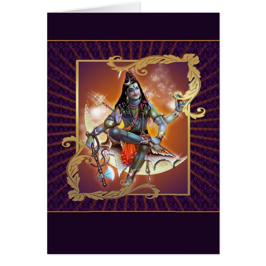Shiva - Sunset Glow - Card, Greeting, Note