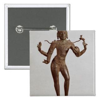 Shiva Vinadhara Dakshina-Murti, Dravidian 15 Cm Square Badge