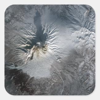 Shiveluch Volcano in Russia Square Sticker