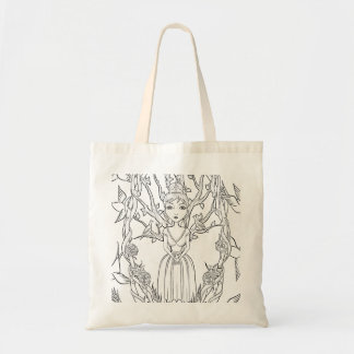 'Shiver and Quiver Little Tree' Budget Tote Bag