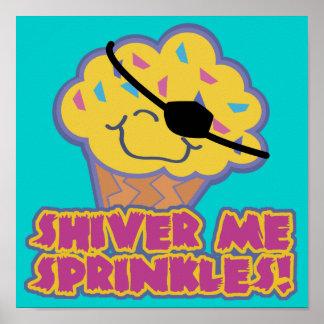 Shiver Me Sprinkles Pirate Cupcake Poster
