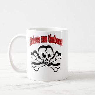 """Shiver me timbers!"", Basic White Mug"