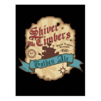 Shiver Me Timbers Label Postcard
