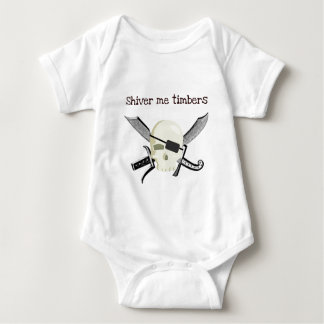 SHIVER ME TIMBERS PIRATE PRINT BABY BODYSUIT