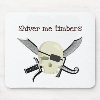 SHIVER ME TIMBERS PIRATE PRINT MOUSE PAD
