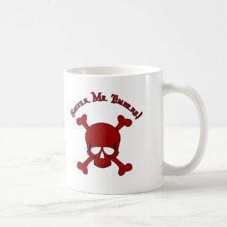 Shiver Me Timbers - Skull and Crossbones Basic White Mug