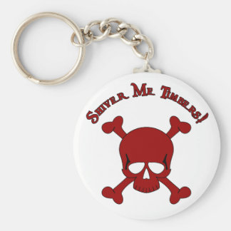Shiver Me Timbers - Skull and Crossbones Key Ring