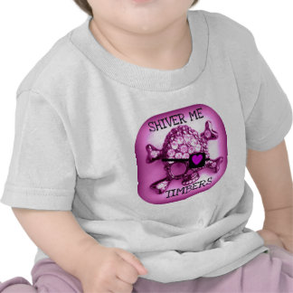 SHIVER ME TIMBERS SKULLY PIRATE PINK PRINT TEES