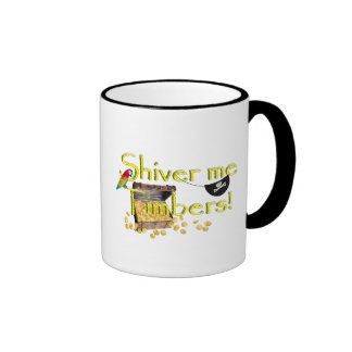 SHIVER ME TIMBERS! - Text w/Pirate Chest Ringer Mug