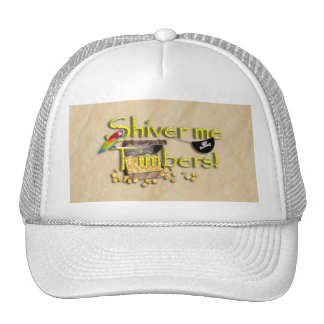 SHIVER ME TIMBERS! Text with Pirate Chest Trucker Hat