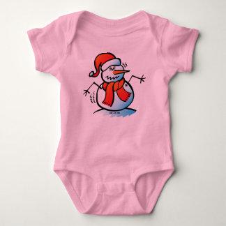 Shivering Snowman Baby Bodysuit