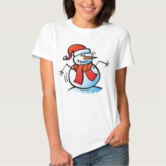 Shivering Snowman Tee Shirts