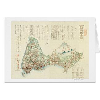 Shizuoka-ken, JapanPanoramic Map Greeting Card