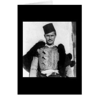 Shkypetars Costume Albania 1923 Greeting Card