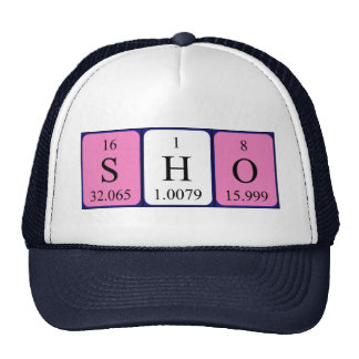 Sho periodic table name hat