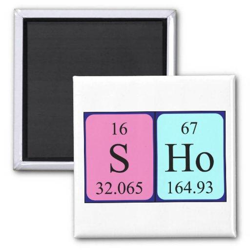 Sho periodic table name magnet