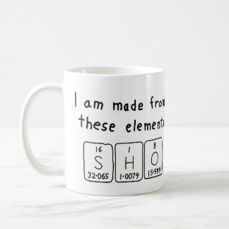 Sho periodic table name mug