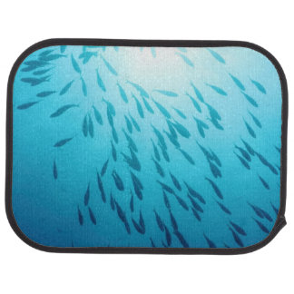 Shoal of fishes floor mat