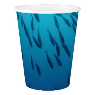 Shoal of fishes paper cup
