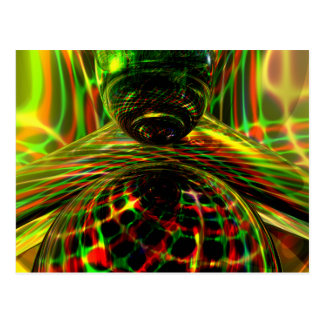 Shock Factor Abstract Postcards