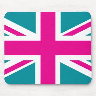 Shock Pink Union Jack British(UK) Flag Mouse Mat