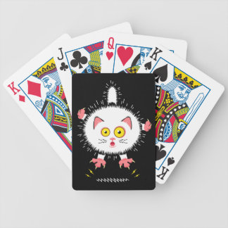 Shocked Cute Cat Bicycle Playing Cards