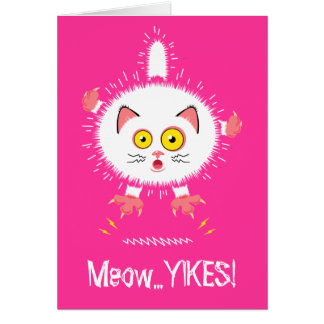 Shocked Cute Cat Card