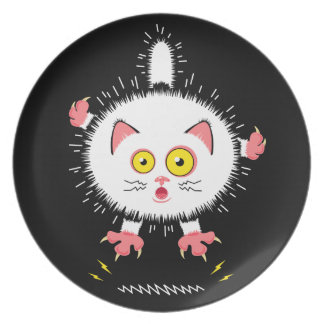 Shocked Cute Cat Plate