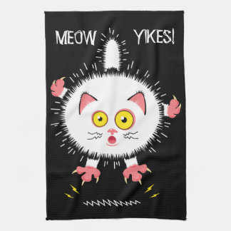Shocked Cute Cat Tea Towel