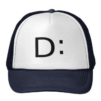 Shocked Emoticon Mesh Hat
