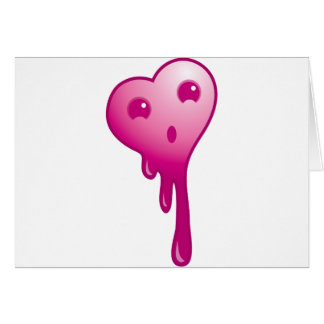 Shocked heart greeting card