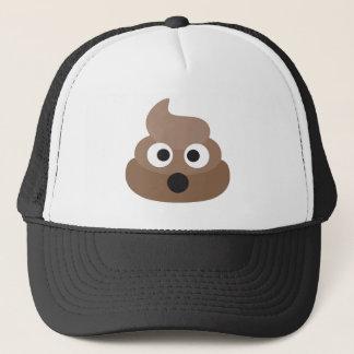 Shocked poop-emoji - Poo cartoon design Trucker Hat