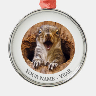 Shocked Squirrel Christmas Ornament