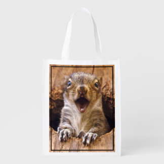 Shocked Squirrel Reusable Grocery Bag