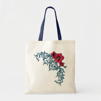 Shocking Hibiscus Tote Bag