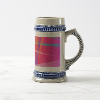 Shocking Pink Abstract Art Beer Steins