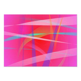 Shocking Pink Abstract Art Custom Invitation