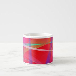 Shocking Pink Abstract Art Espresso Mugs